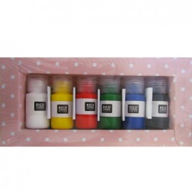 Basic set of textile paint - multicolored