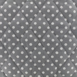 Quilted cotton fabric Pois - white/grey x 10cm