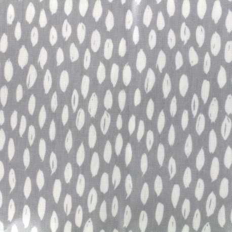 Tissu coton enduit vernis Bayside - cloud x 10cm
