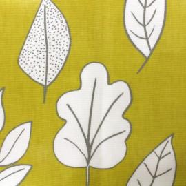 Tissu coton enduit vernis Biscayne - honey x 10cm
