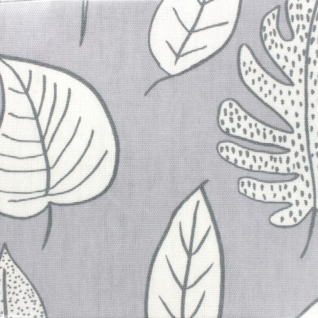 Tissu coton enduit vernis Biscayne - cloud x 10cm