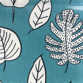 Varnished and coated cotton fabric Biscayne - lagoon x 10cm