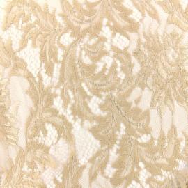 Tissu Dentelle Louise - beige x 10cm