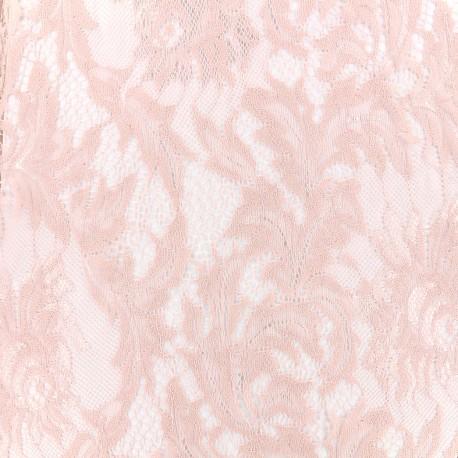 Tissu Dentelle Louise - rose x 10cm