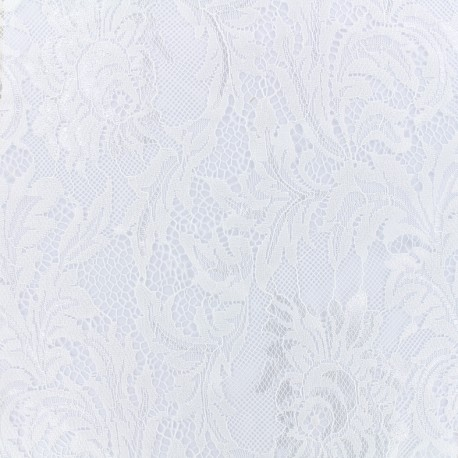 Tissu Dentelle Louise - blanc x 10cm