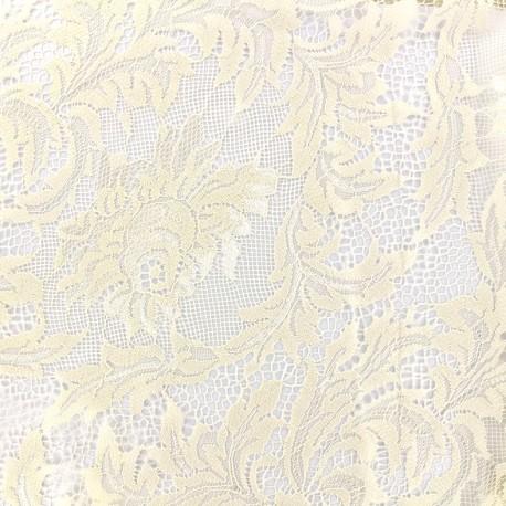 Tissu Dentelle Louise - crème x 10cm