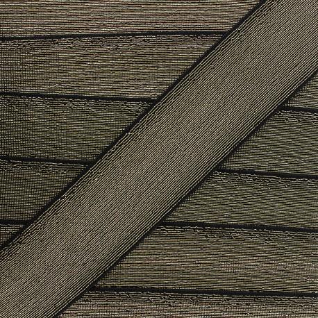 Elastique plat lurex - noir x 1m