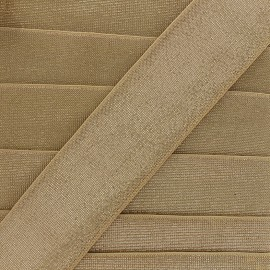 40 mm Flat Lurex Elastic - golden Brillance x 1m