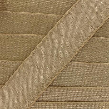 Lurex flat elastic - golden x 1m
