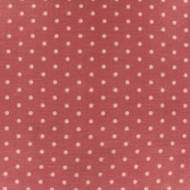 Cretonne cotton fabric Drop - pink/dark old pink x 10cm