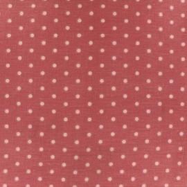 Tissu coton cretonne Drop - rose/vieux rose foncé x 10cm