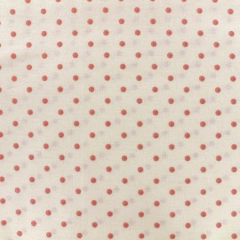 Cretonne cotton fabric Drop - pink/ivory x 10cm