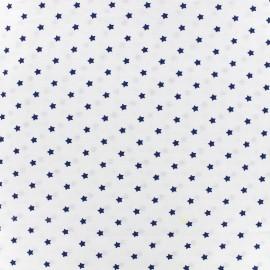 Tissu coton cretonne Mini stars - indigo/ivoire x 10cm