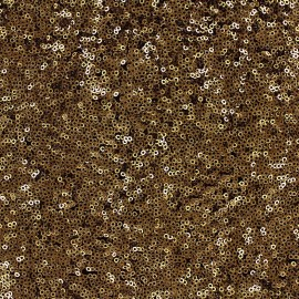 Sewn sequin fabric Célébration - old gold x 10cm