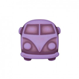 Bouton polyester Petit van - violet