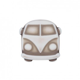 Polyester Button Petit van - white/grey