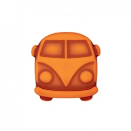Bouton polyester Petit van - orange