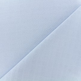 Cotton muslin fabric - sky x 10cm