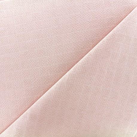 Tissu lange de coton - rose x 10cm