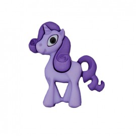Bouton polyester Petite licorne - violet