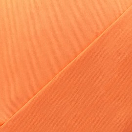 Stitched cotton fabric Molly - orange x 10cm