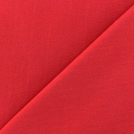 Stitched cotton fabric Molly - red x 10cm