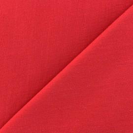 Tissu Oeko-Tex piqué de coton Molly - rouge x 10cm