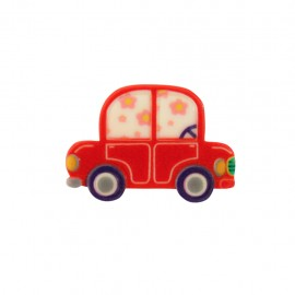 Polyester lapel pin Voiturette - red