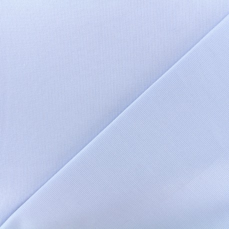Tissu piqué de coton Molly - ciel x 10cm