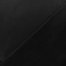 Stitched cotton fabric Molly - black x 10cm