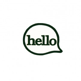 Lapel pin Comic Strip - hello