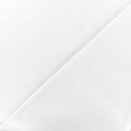 Stitched cotton fabric Molly - white x 10cm