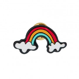 Lapel pin Funky rainbow - multicolor