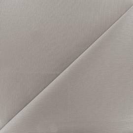 Tissu piqué de coton Molly - gris souris x 10cm