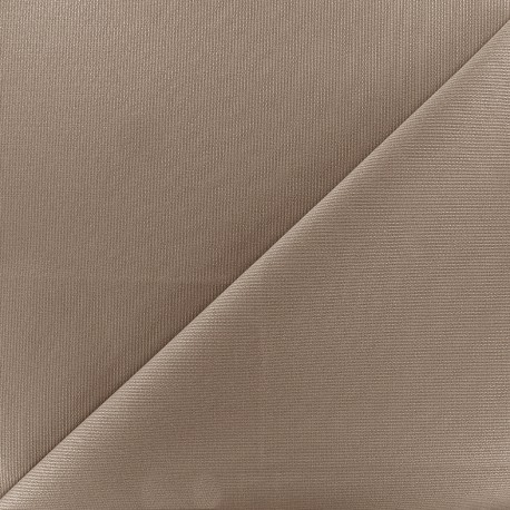 Stitched cotton fabric Molly - taupe x 10cm