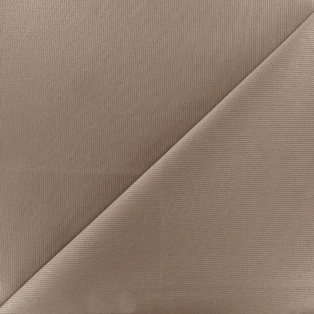 Tissu piqué de coton Molly - taupe x 10cm