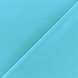 Tissu piqué de coton Molly - turquoise x 10cm