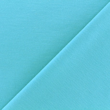 Stitched cotton fabric Molly - turquoise x 10cm