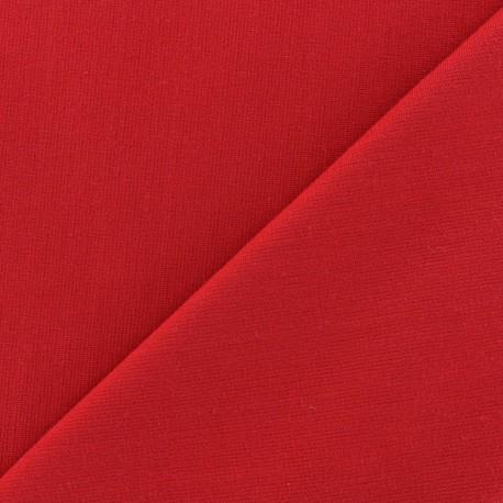 Tissu Jersey Milano lourd uni - rouge x 10cm