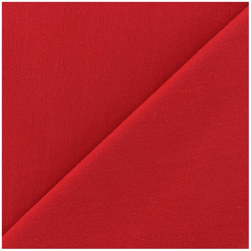 tissu jersey milano lourd uni rouge x 10cm ma petite. Black Bedroom Furniture Sets. Home Design Ideas
