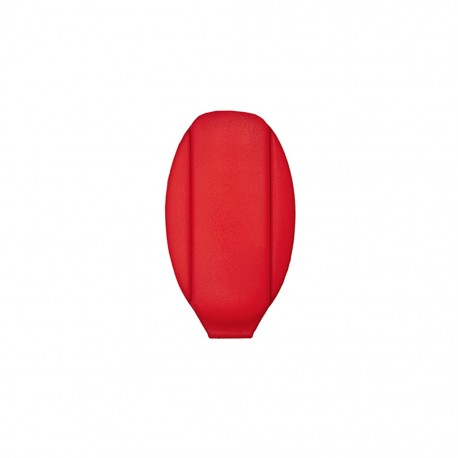 Cord end piece Ellipse - red