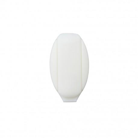 Cord end piece Ellipse - white