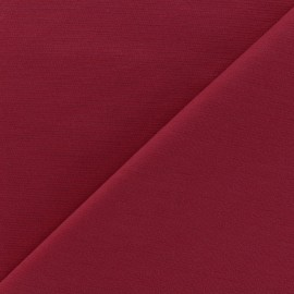 Heavy plain Milano jersey fabric - lie de vin x 10cm