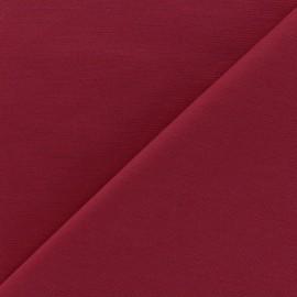 Tissu Jersey Milano lourd uni - lie de vin x 10cm