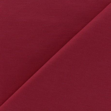 Heavy plain Milano jersey fabric - lie de vin x 10cm