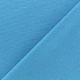 Tissu Jersey Milano lourd uni - azur x 10cm