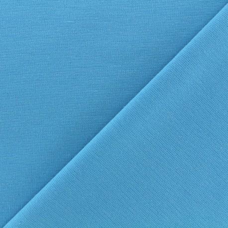Heavy plain Milano jersey fabric - azure x 10cm