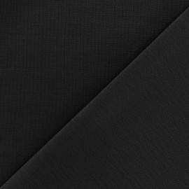 Heavy plain Milano jersey fabric - black x 10cm