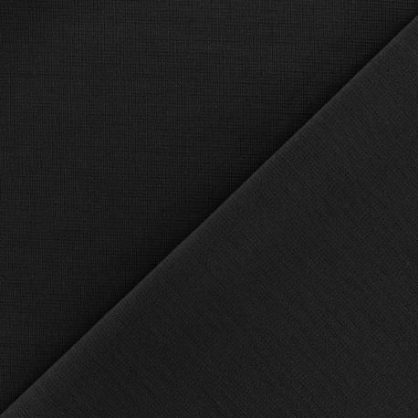 Heavy plain Milano jersey fabric - black x 10cm