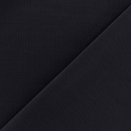 Heavy plain Milano jersey fabric - night blue x 10cm